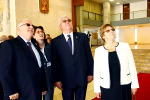 President Rivlin, Mr Luka Bebic and his wife and Tanya Ben Haim