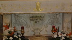 I Riječ (HIC je ovdje )  tijelom postala Nazaret - Bazilika Navještenja