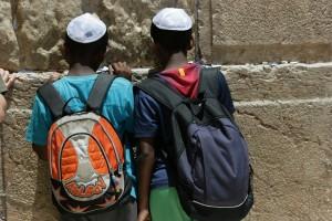 Etiopski dječaci na Zapadnom zidu