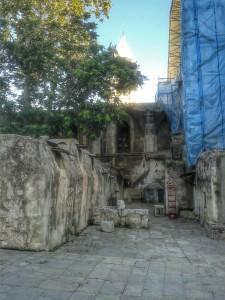 Etiopsko naselje na krovu Bazilike Svetog Groba